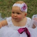 Hajpánt virágos hajpánt baby csipke hajpánt, Ruha, divat, cipő, Hajbavaló, Hajpánt, Fehér csipke hajpánt lila-fehér rózsával swarovski kristály díszítéssel.  Tütü ruhát is találsz hozz..., Meska