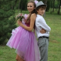 Koszorúslány ruha Pink ruha esküvőre fotózáshoz, Ruha, divat, cipő, Esküvői ruha, Gyerekruha, Kamasz (10-14 év), Extravagáns Pink-fehér szatén és tüllruha tini lányoknak. Esküvőre,vagy fotózáshoz is ajánlom. Méret..., Meska
