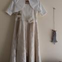Koszorúslány ruha Tört fehér ruha esküvőre fotózáshoz is, Ruha, divat, cipő, Esküvői ruha, Gyerekruha, Kamasz (10-14 év), Esküvőre, Koszorúslány ruha.  Tört fehér és barackvirág színű csipke ruha lányoknak.3 részes Ruha,bo..., Meska