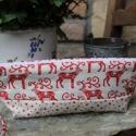 Tolltartó pamutvászon neszesszer smink táska, Táska, Neszesszer, Már a karácsony jegyében készítettem el ezt a neszesszert.  Kiváló ajándék lehet karácsonyra, de szü..., Meska
