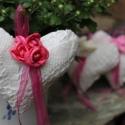 Karácsonyfadísz.Horgolt illatos szívecskék pink rózsával ,esküvőre, karácsonyra illetve lakásdekorációnak, Otthon, lakberendezés, Újabb szívecske kollekciót állítottam össze a közelgő karácsonyra. Ajánlom dekorációnak,hogy hangula..., Meska