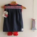 Farmer ruha tunika piros leggings és hajcsat , Ruha, divat, cipő, Gyerekruha, Gyerek (4-10 év), Kisgyerek (1-4 év), 3 db-os szettet állítottam össze az ősz jegyében. A kedves virágos szalaggal díszített,kicsit népies..., Meska