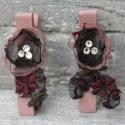 Hajcsat organza virágos aligátor csat lányoknak , Ruha, divat, cipő, Hajbavaló, Hajcsat, Különleges hímzett tüllből készítettem ezt az organza virágos csatot. A közepére ezüst swarovski kri..., Meska