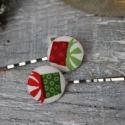 Hajcsat karácsonyi dobozok hullámcsat hajba való öltözék kiegészítő, Ékszer, óra, Fülbevaló, Nagyszerű kiegészítője lehet karácsonyi öltözékednek ez a karácsonyi ajándék doboz hullámcsat. Ajánd..., Meska