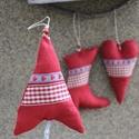 Karácsonyi díszek textil díszek 3 db/ csom., Dekoráció, Karácsonyi, adventi apróságok, Karácsonyfadísz, Már nincs messze a Karácsony Igyekeztem új textil díszekkel meglepni vásárlóimat  a szezon kezdetére..., Meska