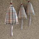 Karácsonyi díszek textil díszek 3 db fenyőfa gyapjúszövet dekoráció, Dekoráció, Karácsonyi, adventi apróságok, Karácsonyfadísz, Már nincs messze a Karácsony Igyekeztem új textil díszekkel meglepni vásárlóimat  a szezon kezdetére..., Meska