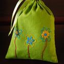 Zöld virágos levendulazsák, Dekoráció, Otthon, lakberendezés, , Meska