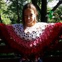 Lányka poncsó, Baba-mama-gyerek, Ruha, divat, cip?, Gyerekruha, Kamasz (10-14 év), Horgolás, Red Heart Soft akril fonalból horgolt, puha poncsó. 40 cm hosszú., Meska