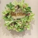 Virág ajtódísz , Dekoráció, Otthon, lakberendezés, Virágkötés, Mindenmás, Édes otthon kopogtató. Az ajtódísz a lakásunk egyik nagyon kedves dekor része. Hazaérkezvén és távo..., Meska
