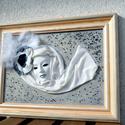 Marabus hölgy, Dekoráció, Képzőművészet , Kép, Textil, , Meska
