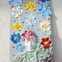 Tavasz-nyár, Dekoráció, Képzőművészet , Kép, Textil, , Meska