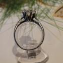 Szoliter, Ékszer, óra, Gyűrű, Ékszerkészítés, Ötvös, A klasszikus egyköves szoliter gyűrű, teljesen jkézzel készítve.  925-ös ezüstből készítettem, la..., Meska