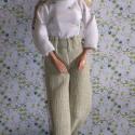 Barbie ruha / Nadrág pulóverrel, Baba-mama-gyerek, Játék, Ruha, divat, cipő, Baba játék, Varrás, Kislányok és nagylányok kedvence a világ számtalan országában ismert, népszerű Barbara, Petra, Kari..., Meska