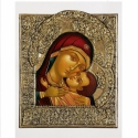 Korsuni madonna, Képzőművészet, Esküvő, Festmény, Nászajándék, Festészet, Szobrászat,  A Mária gyermekkel ábrázolások közül ez egy eleusza típusú ikon, ahol a gyermek az anyjához simul...., Meska