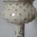 váza, Dekoráció, Otthon, lakberendezés, Ünnepi dekoráció, Kerámia, Modernség és szecesszió együtt. A váza plasztikus pöttyökkel és óarannyal van díszítve. 30cm, Meska