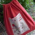 Bagoly mintás, és piros vászon tornazsák vagy hátizsák, Otthon, lakberendezés, Ruha, divat, cipő, Táska, Hátizsák, Varrás, Késztermék. Aranyos bagoly mintás és sötét piros erős vászonból készült kis hátizsák, kicsiknek vag..., Meska