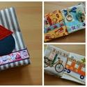 Babakönyv a legkisebbeknek, Játék, Baba-mama-gyerek, Készségfejlesztő játék, Varrás, Járműves babakönyv, címkekönyv.  4-5 hónapos kortól ölbe lehet ültetni egy kisbabát és lehet vele k..., Meska