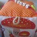 Babakocka ( 15x15 cm-es), Baba-mama-gyerek, Játék, Készségfejlesztő játék, Baba játék, Varrás, Minden baba szeret játszani. A játék öröméhez szines babakockát készítettem babáknak. A babakocka n..., Meska