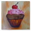 Finoman-édesen olajfestmény, Képzőművészet , Dekoráció, Festmény, Olajfestmény, Festészet, 20x20 cm-es képet festettem olaj technikával. Édes, finom, gyümölcsös, csokoládés. Ideális dekoráci..., Meska