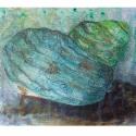 Tenger mélyén akril festmény, Dekoráció, Képzőművészet , Festmény, Akril, Festészet, A4-es alapozott vászonra festettem a nyár és tenger színeit egy csigába foglalva...  Köszönöm, hogy..., Meska