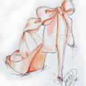 Púder rózsaszín  tűsarkú illusztráció, Dekoráció, Képzőművészet , Kép, Illusztráció, Festészet, Fotó, grafika, rajz, illusztráció, Akvarell papírra készült Christian Louboutin cipő illusztráció alapján készült print. Méret: 18x 24..., Meska