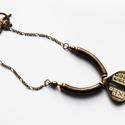 NL 120 Rezeda, Ékszer, óra, Nyaklánc, Ékszerkészítés, Réz nyaklánc különleges medállal. Méret: 48 cm., Meska