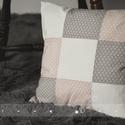 Patchwork párna virágos, Otthon, lakberendezés, Lakástextil, Párna, Varrás, Patchwork, foltvarrás, Igényes pamut puplin textilből készült díszpárna, melynek különlegessége selymes, finom tapintása. ..., Meska