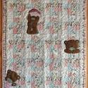 Macis babatakaró, Baba-mama-gyerek, Otthon, lakberendezés, Gyerekszoba, Falvéd?, takaró, Patchwork, foltvarrás, Varrás, A maci applikálással készült. Mérete 100 x 130 cm., Meska