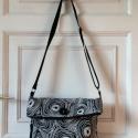 Fekete-fehér mintás táska, Táska, Ruha, divat, cipő, Válltáska, oldaltáska, Laptoptáska, , Meska