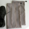 Férfi cipő cipőzsák (2db/termék), Férfiaknak, Ruha, divat, cipő, Otthon, lakberendezés, Cipő, papucs, Varrás, Gyakran utazó férfiak részére készítettem ezt a cipőzsákot. Egy pár cipő a két zsákba belerakva kön..., Meska