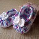 Horgolt baba cipő, Baba-mama-gyerek, Mindenmás, Ruha, divat, cipő, Cipő, papucs, Horgolás, Horgolt cipőcském talpa 9 cm, kb. 6 hónapos babára való. Szundikendő is van a készletemben hozzá. P..., Meska