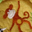 Szafari falvédő, Baba-mama-gyerek, Gyerekszoba, Falvédő, takaró, Varrás, Patchwork, foltvarrás, Megrendelésre készítettem ezt a applikált afrikai állatokkal díszített falvédőt. A megrendelő kérés..., Meska