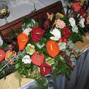 Horgolt virág asztaldísz, Esküvő, Dekoráció, Esküvői dekoráció, Dísz, , Meska