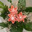 Kanzashi virágcsokor, Esküvő, Esküvői csokor, Esküvői dekoráció, , Meska