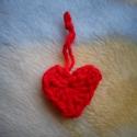 Horgolt szív, Dekoráció, Dísz, , Meska