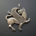 Szárnyas Oroszlán medál, Ékszer, óra, Medál, Fémmegmunkálás, Ékszerkészítés, Akhaimenida Szárnyas Oroszlán    Oltalmazó jelkép. A hatalom szimbóluma.  Az Akhaimenida uralkodók s..., Meska