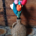 Textil tulipán, Dekoráció, Otthon, lakberendezés, Dísz, Kaspó, virágtartó, váza, korsó, cserép, Varrás, Tavaszi vázába üde hangulatot hozó szálas textil tulipán. Kézzel varrott, flízzel tömött. Mérete: 2..., Meska
