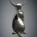 Kutyus, kutya medál ezüstből. Teljesen saját tervezésű és készítésű, Ékszer, óra, Medál, Ez a kutyus medál teljesen saját tervezésű és kivitelezésű ezüst ékszer.  A kutyus domborított eleme..., Meska