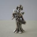 Harmonikás angyal ezüst miniatúra, Dekoráció, A miniatúra sorozatomból ez a harmonikás angyal.  Viaszveszejtéses öntési technikával készítettem 92..., Meska