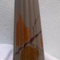 Bronzerdő - színhangulat váza, Dekoráció, Otthon, lakberendezés, Kaspó, virágtartó, váza, korsó, cserép, Festészet, Készen vett,színre fújt kerámia váza kézzel, metál akrillal festve.  A váza mérete: 25 cm magas és ..., Meska