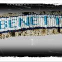 Csomózott feliratos karkötő   Kék-fehér, Ékszer, óra, Karkötő, , Meska