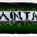 Csomózott feliratos karkötő  Fehér-fekete, Ékszer, óra, Karkötő, , Meska