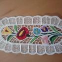 kalocsai teritő10x25cm, Képzőművészet , Otthon, lakberendezés, Textil, Lakástextil, Hímzés, riselős terítő 10x25cm, Meska