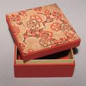 'Japán hangulat'. Doboz, díszdoboz; papír és vászon kombinációja, ajándékos doboz japán képpel, Dekoráció, Otthon, lakberendezés, Tárolóeszköz, Doboz, Ebben a dobozban sokféle apróság elrejthető, tárolható, különböző ajándéktárgyak átadására is kiváló..., Meska