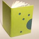 Műbőr üres könyv, napló, vendégkönyv, emlékkönyv sima lapokkal. Zöld műbőr, kék vászon, Naptár, képeslap, album, Jegyzetfüzet, napló, Műbőr üres könyv, napló, vendégkönyv, emlékkönyv sima lapokkal.   A kemény könyvborító zöldeskék, sö..., Meska