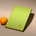 Műbőr üres könyv hímzéssel, napló, vendégkönyv, emlékkönyv sima lapokkal. Kézzel hímzett zöld műbőr, Naptár, képeslap, album, Jegyzetfüzet, napló, Műbőr üres könyv, napló, vendégkönyv, emlékkönyv sima lapokkal.   A kemény könyvborító zöld, élénk a..., Meska