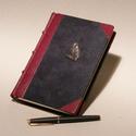 """""""Legujabb levelez?"""" másolat, kézzel kötött könyv minta levelekkel, valódi b?r és bársony borító, fém bagoly, Naptár, képeslap, album, Mindenmás, Férfiaknak, Jegyzetfüzet, napló, A """"Legújabb levelez?..."""" cím?, 1907-ben megjelent kötet másolata. Nagyon szép ajándék mindazoknak, a..., Meska"""