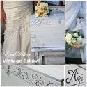 Vintage Esküvőre -, Esküvő, Otthon, lakberendezés, Baba-mama-gyerek, Nászajándék,  Nászajándék láda vintage esküvőre. Antikolt fehér láda, a pénzes borítékok gyűjtésére.  Az esküvőn ..., Meska