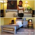 Provence-i  levendulakék ágy , Baba-mama-gyerek, Bútor, Otthon, lakberendezés, Ágy, Provence-i  hangulatú  bútorok  a  hálószobában. Antikolt levendulakék festéssel készült. Rusztikus ..., Meska
