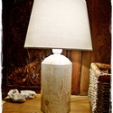 Rusztikus lámpa-AZONNAL ELVIHETŐ, Esküvő, Otthon, lakberendezés, Nászajándék, Lámpa, Újrahasznosított fából készült,  asztali HANGULATLÁMPA. Fehérre antikolt, rusztikus fa lámpa. A fa t..., Meska